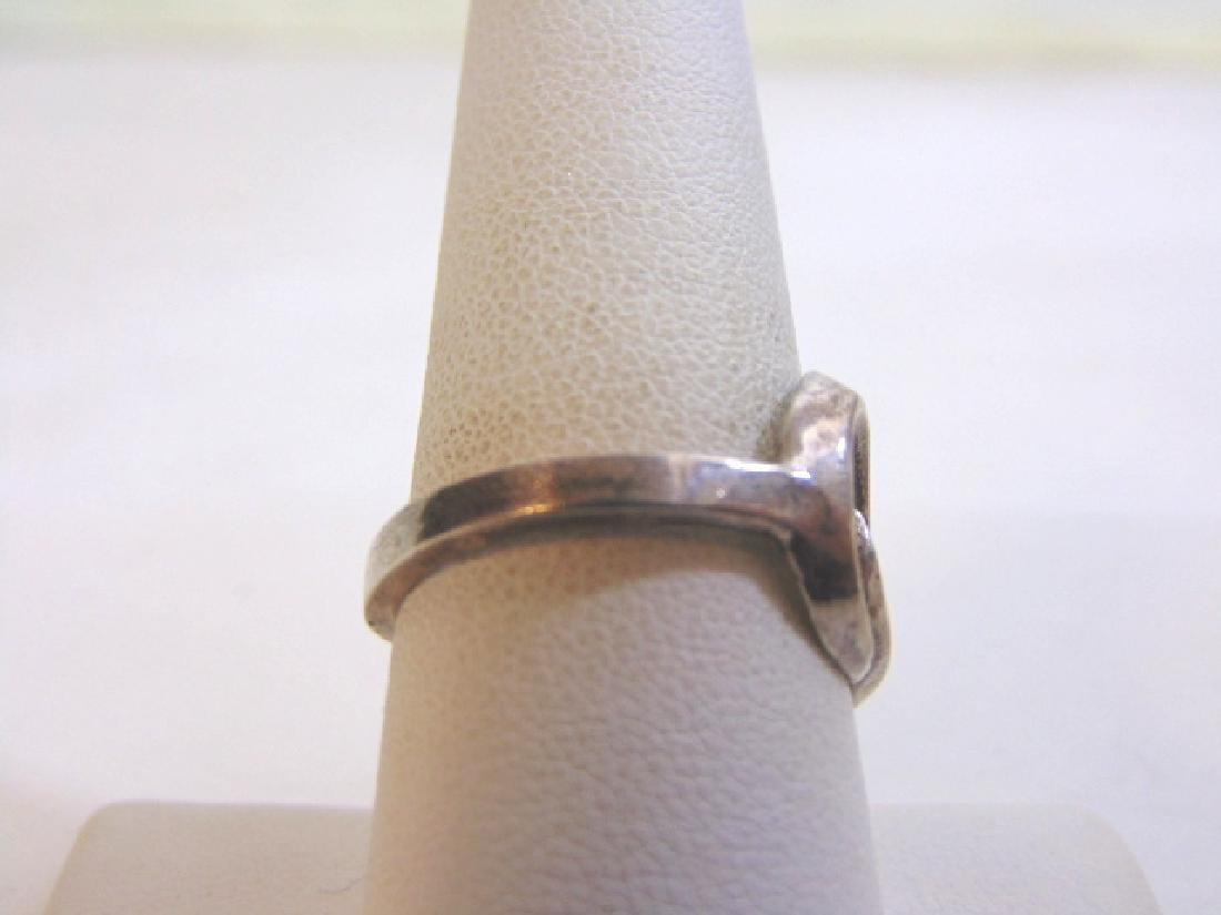 Womens Vintage Estate Sterling Silver Band Ring 4.2g - 2