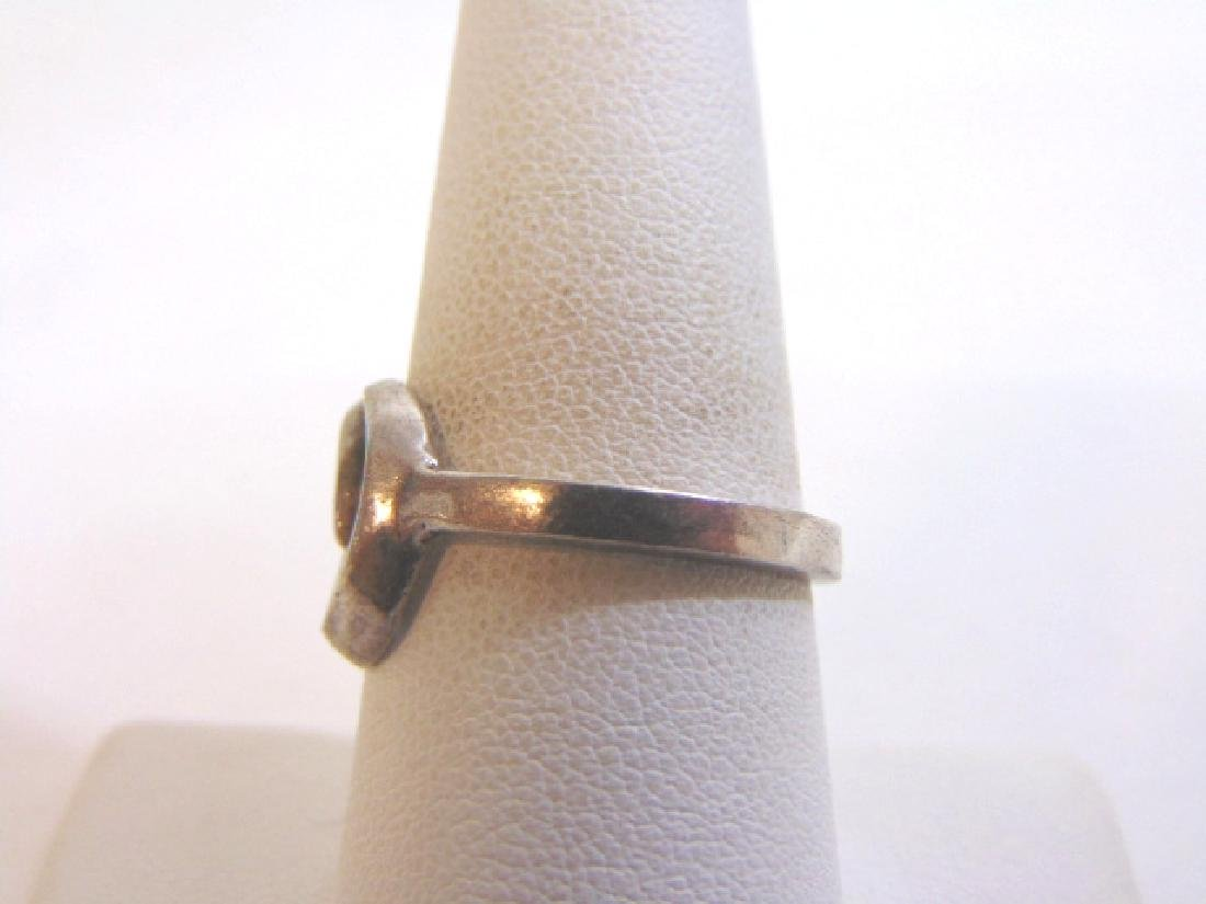 Womens Vintage Estate Sterling Silver Band Ring 4.2g - 3