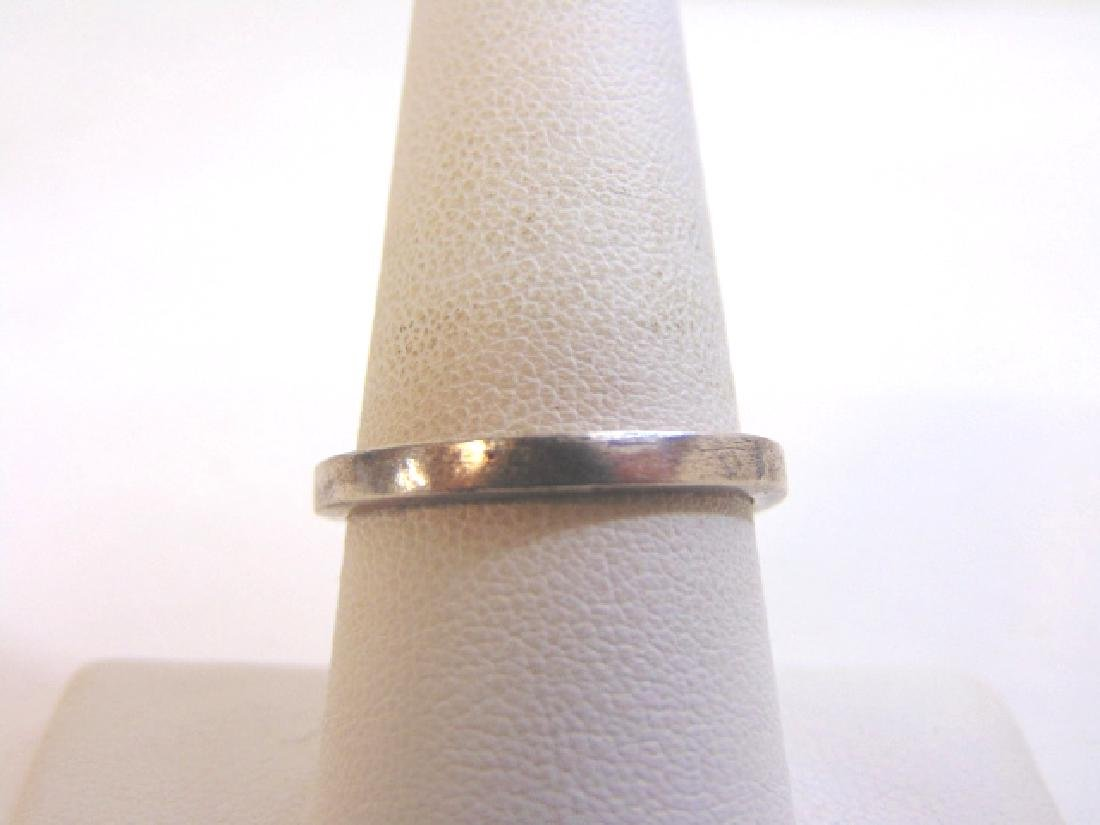 Womens Vintage Estate Sterling Silver Band Ring 4.2g - 4
