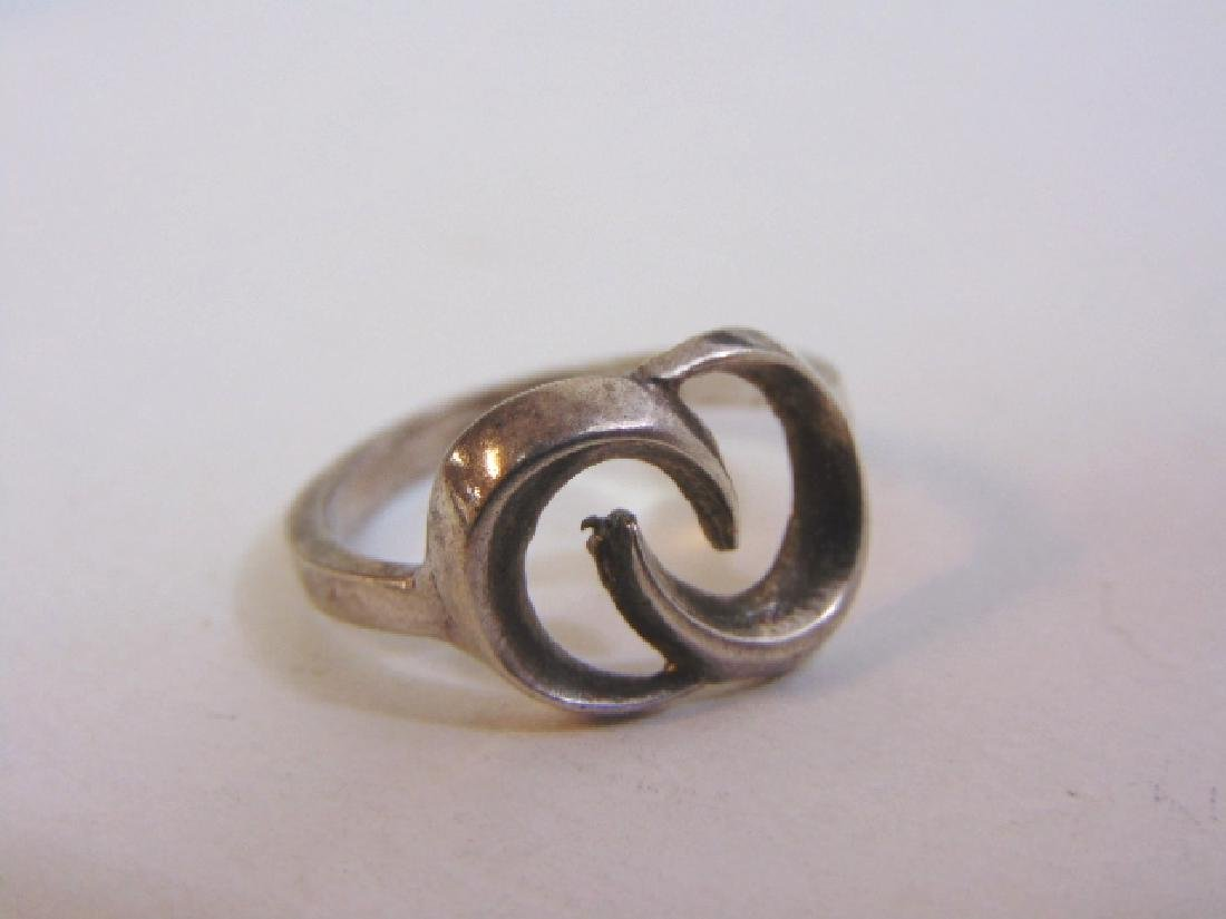 Womens Vintage Estate Sterling Silver Band Ring 4.2g - 5