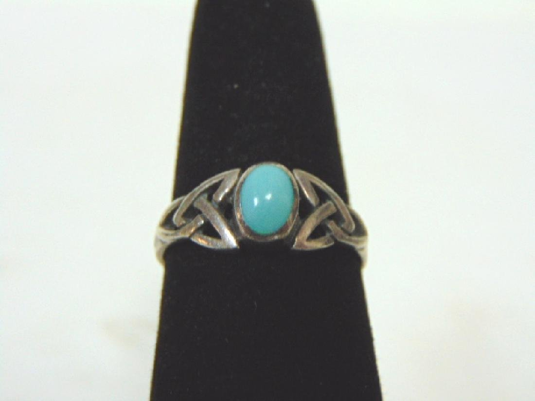 Womens Sterling Silver Ring w/ Turquoise ?