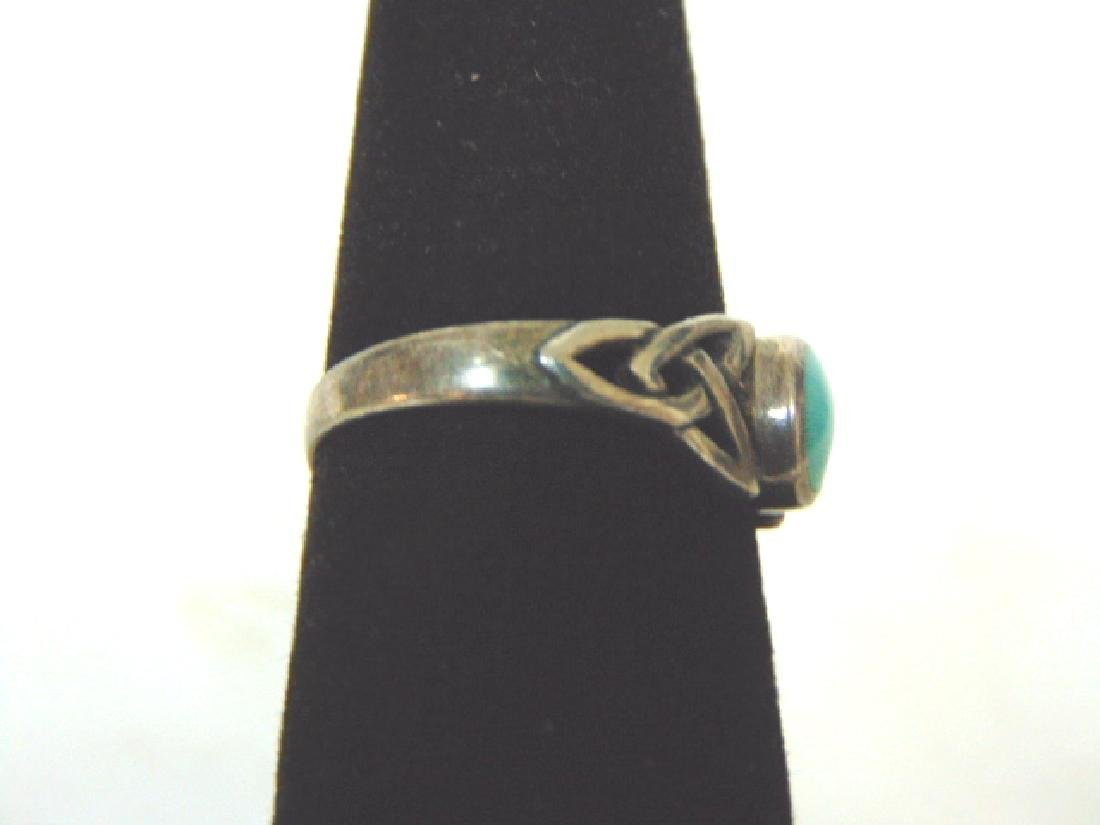 Womens Sterling Silver Ring w/ Turquoise ? - 2