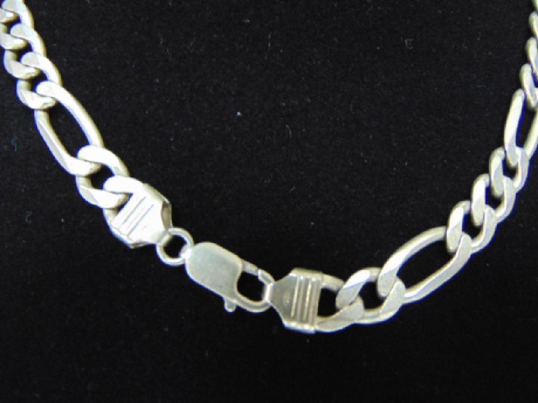 Vintage Estate .925 Sterling Silver Chain Necklace - 3