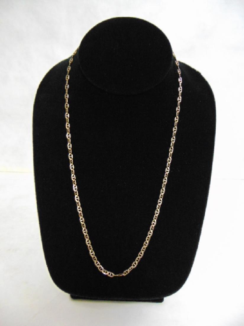 Vintage Estate 10K Gold Italian Chain Link Necklace