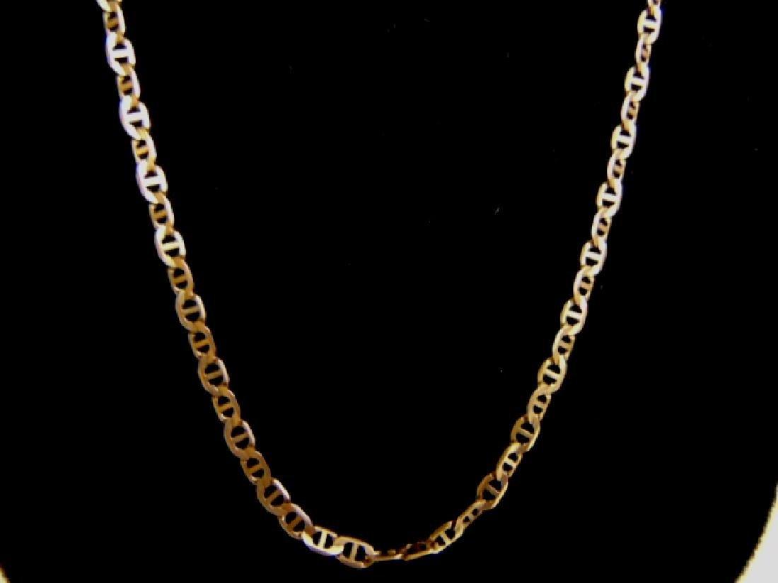 Vintage Estate 10K Gold Italian Chain Link Necklace - 2