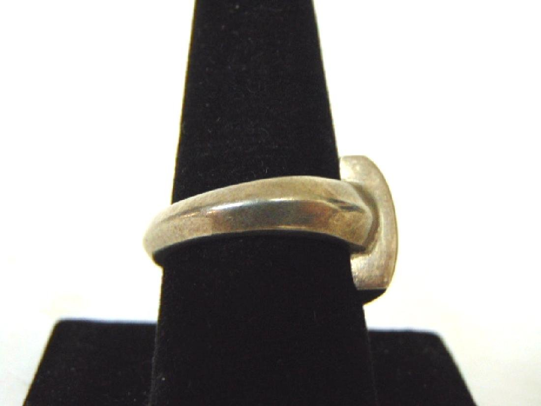 Vintage Sterling Silver & Abalone Shell Ring - 2
