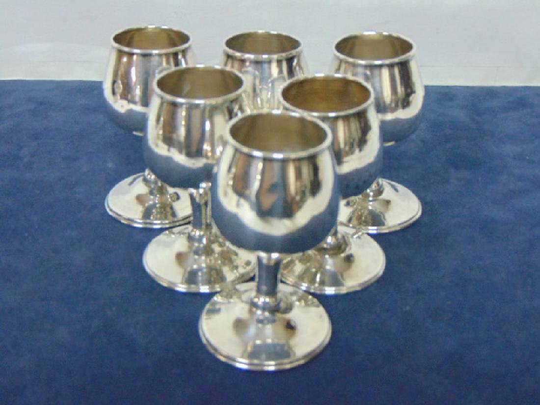 VINTAGE TAXCO STERLING SILVER .925 DECANTER W/ 6 CUPS - 7