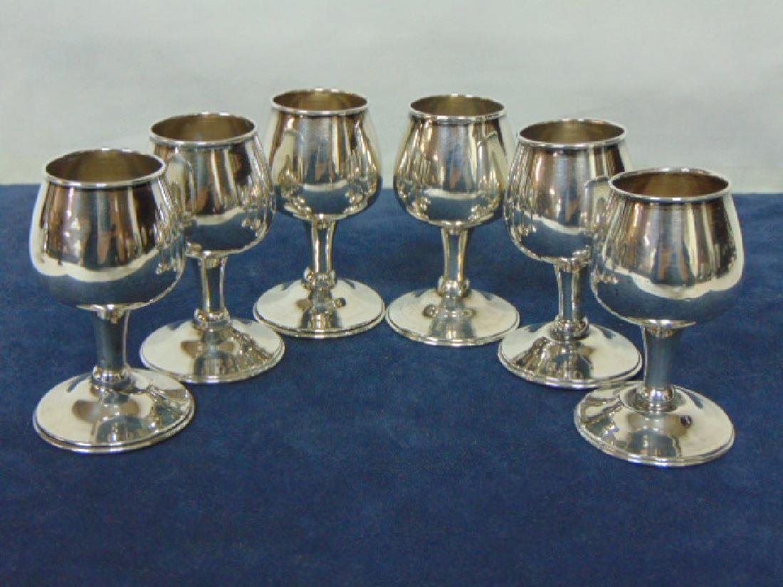 VINTAGE TAXCO STERLING SILVER .925 DECANTER W/ 6 CUPS - 8