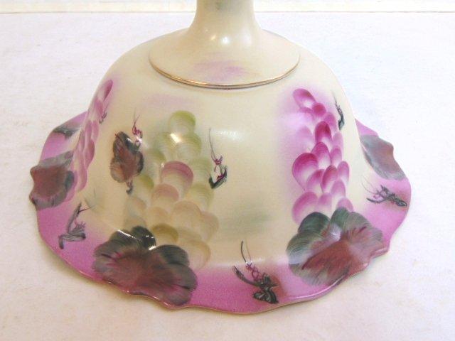 Decorative Porcelain Grape Motif Compote Bowl - 4