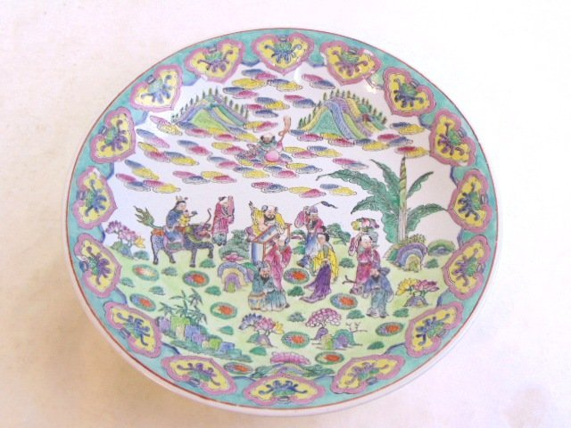 DECORATIVE FLORAL CHINESE PORCELAIN CHARGER BOWL