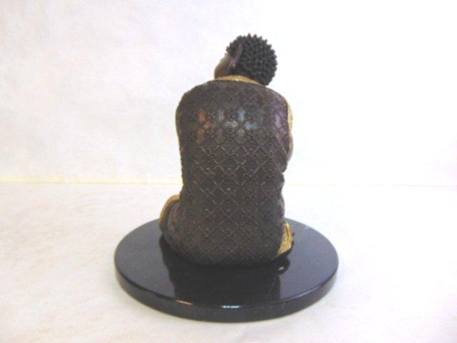 FENG SHUI RESTING BUDDHA STATUE W/ BRONZE FINISH - 4