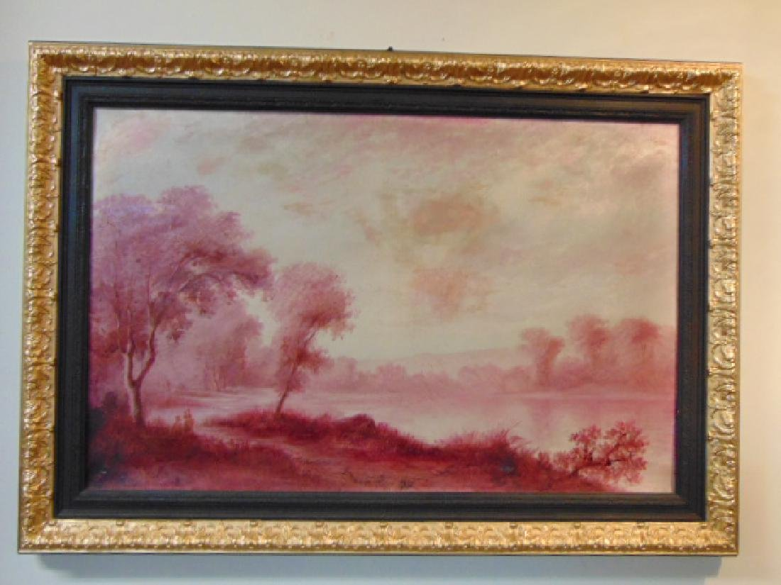 Antique European Oil on Canvas Painting French ? 1 of 2