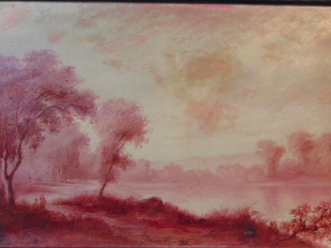 Antique European Oil on Canvas Painting French ? 1 of 2 - 2