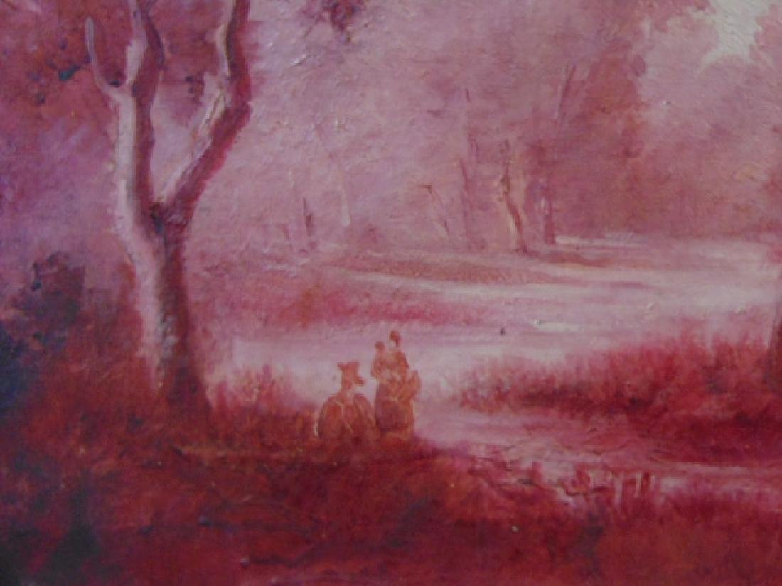 Antique European Oil on Canvas Painting French ? 1 of 2 - 3