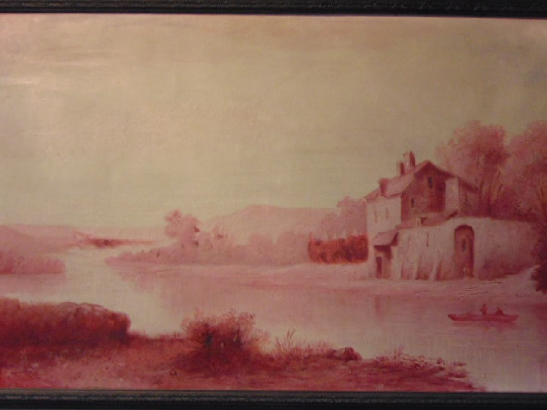 Antique European Oil on Canvas Painting French ? 2 of 2 - 3