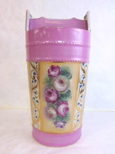Hand Painted Floral Porcelain Umbrella Vase