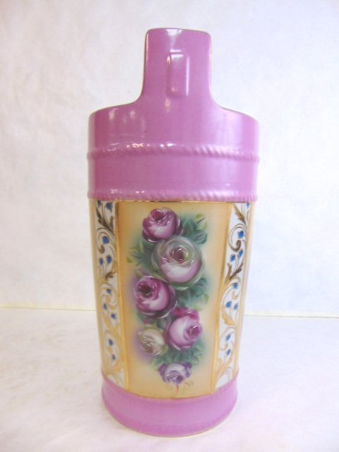 Hand Painted Floral Porcelain Umbrella Vase - 2