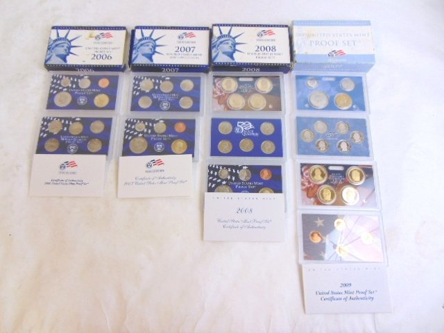 LOT OF 4 COLLECTIBLE U.S MINT PROOF SETS - 2