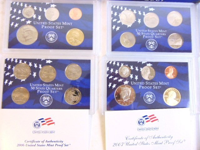 LOT OF 4 COLLECTIBLE U.S MINT PROOF SETS - 3