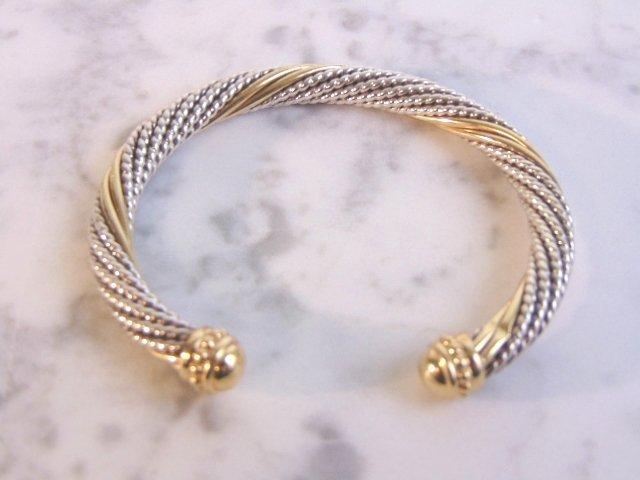 Sterling Silver & 14k Gold Earring Bracelet Set - 3