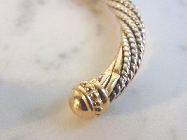Sterling Silver & 14k Gold Earring Bracelet Set - 4