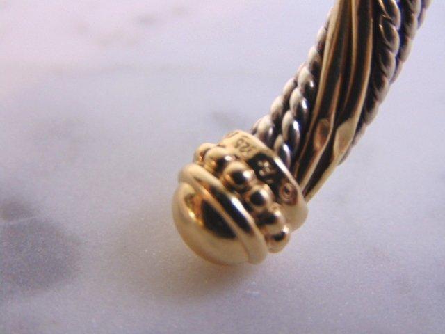Sterling Silver & 14k Gold Earring Bracelet Set - 5