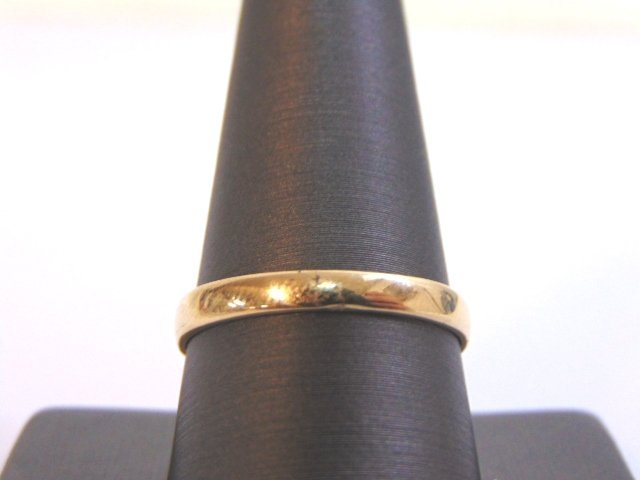 Mens Vintage 14K Gold Wedding Band Ring w/ Diamonds - 4