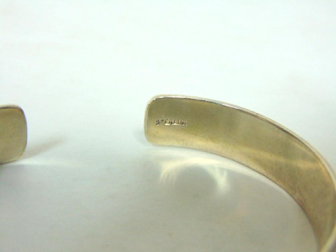 Womens Vintage Estate Sterling Silver Cuff Bracelet - 5