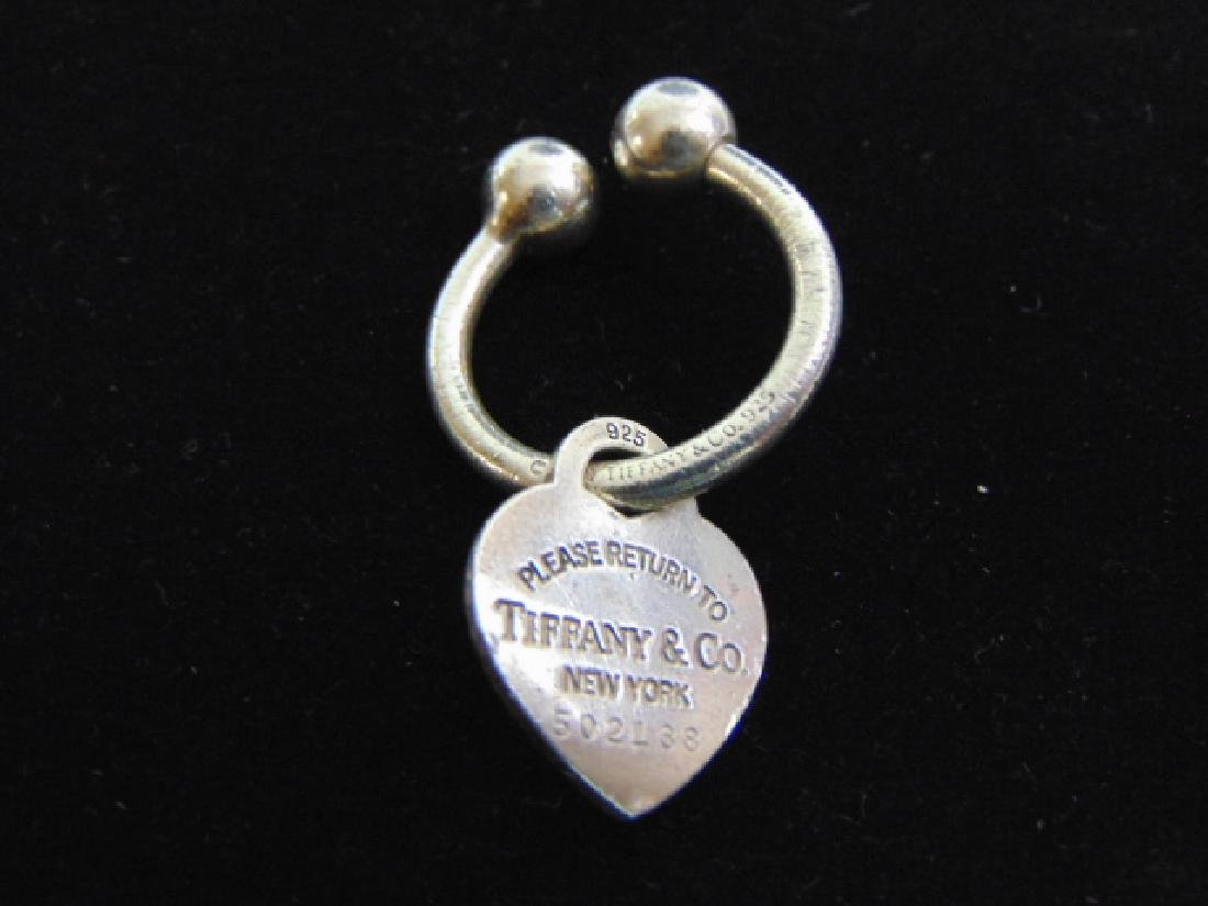 Vintage Sterling Silver Tiffany & Co Welcome Keychain