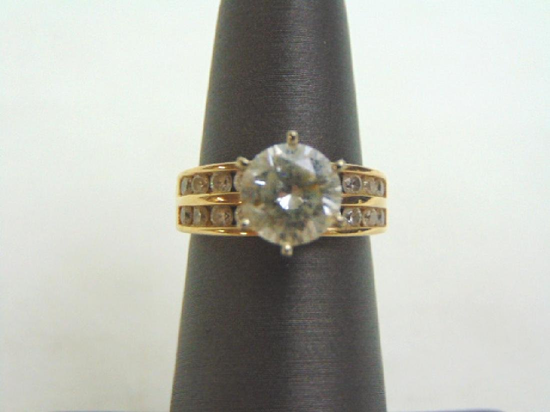 Womens Vintage Estate 14K Gold W/ CZ Engagement Ring