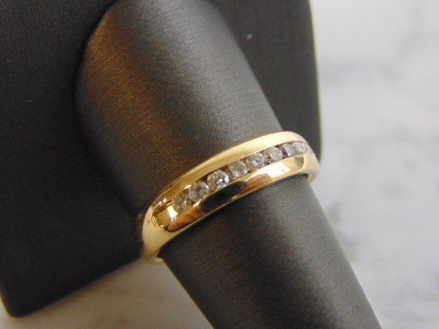 Mens Vintage Estate 14K Gold Diamond Ring 6.3g