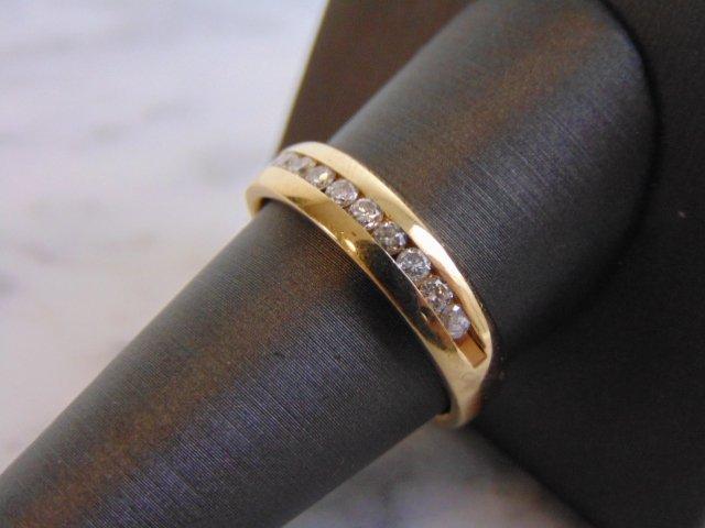 Mens Vintage Estate 14K Gold Diamond Ring 6.3g - 2
