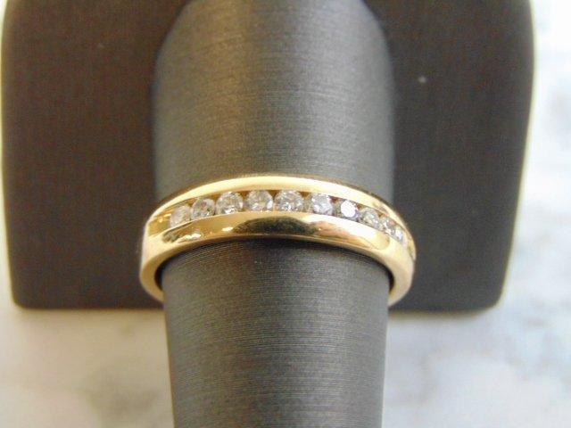 Mens Vintage Estate 14K Gold Diamond Ring 6.3g - 3