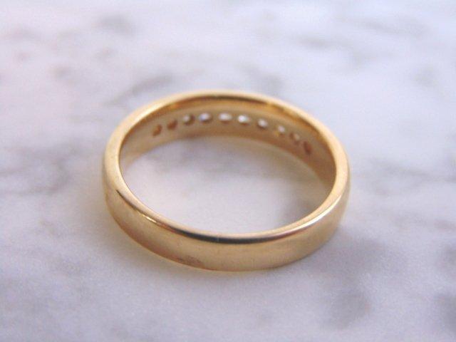 Mens Vintage Estate 14K Gold Diamond Ring 6.3g - 4