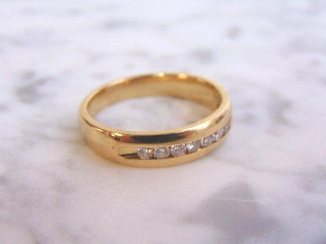 Mens Vintage Estate 14K Gold Diamond Ring 6.3g - 5
