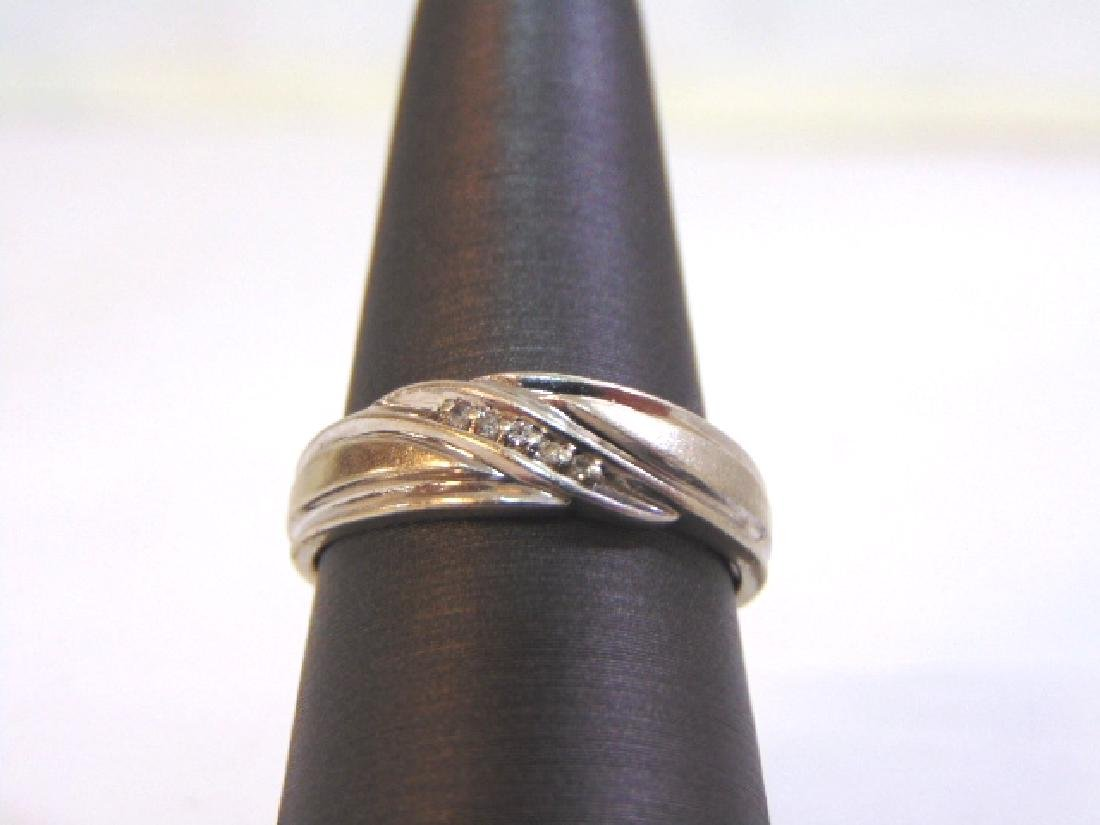 Mens Vintage Estate 10k Gold Ring w/ Diamonds 4.2g
