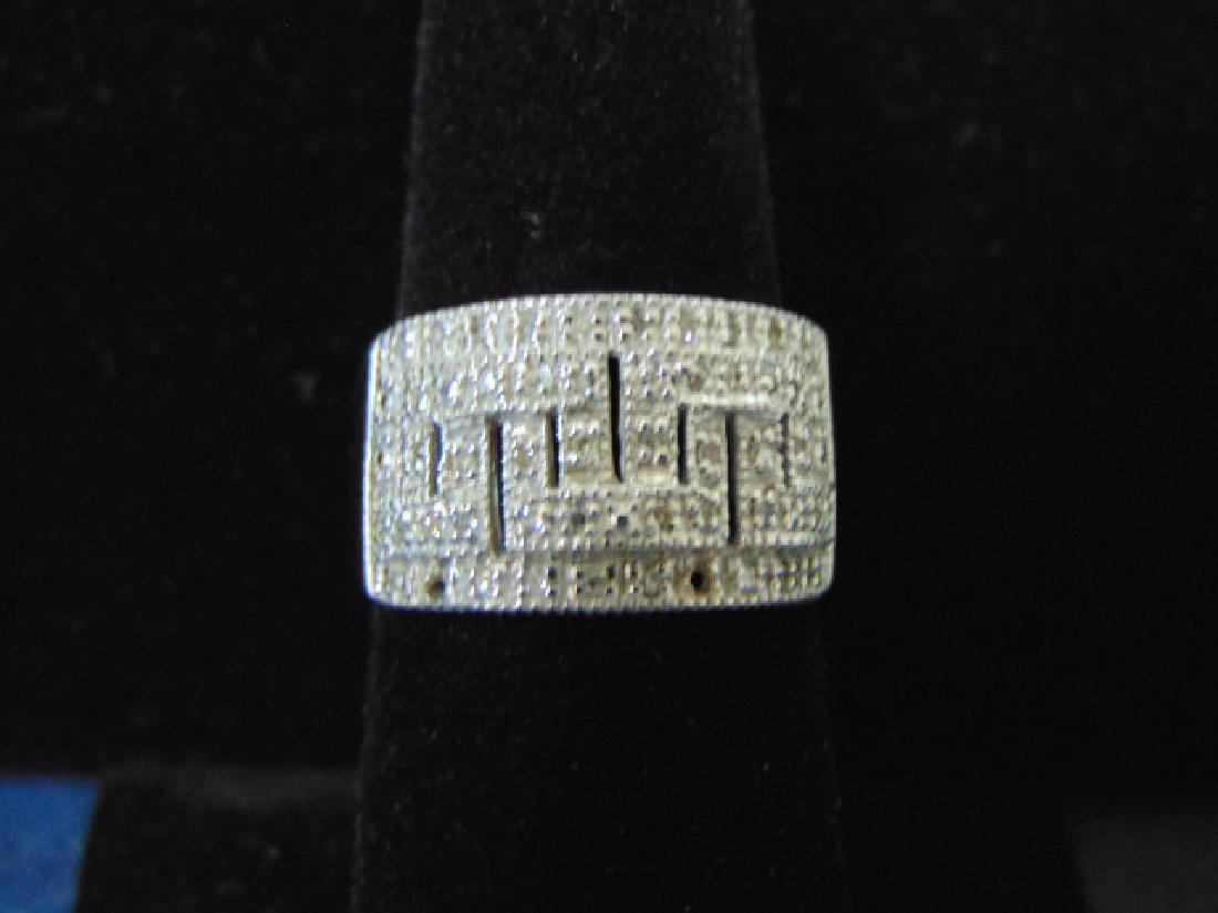 VINTAGE ESTATE 14K WHITE GOLD RING W/ DIAMONDS VERSACCI