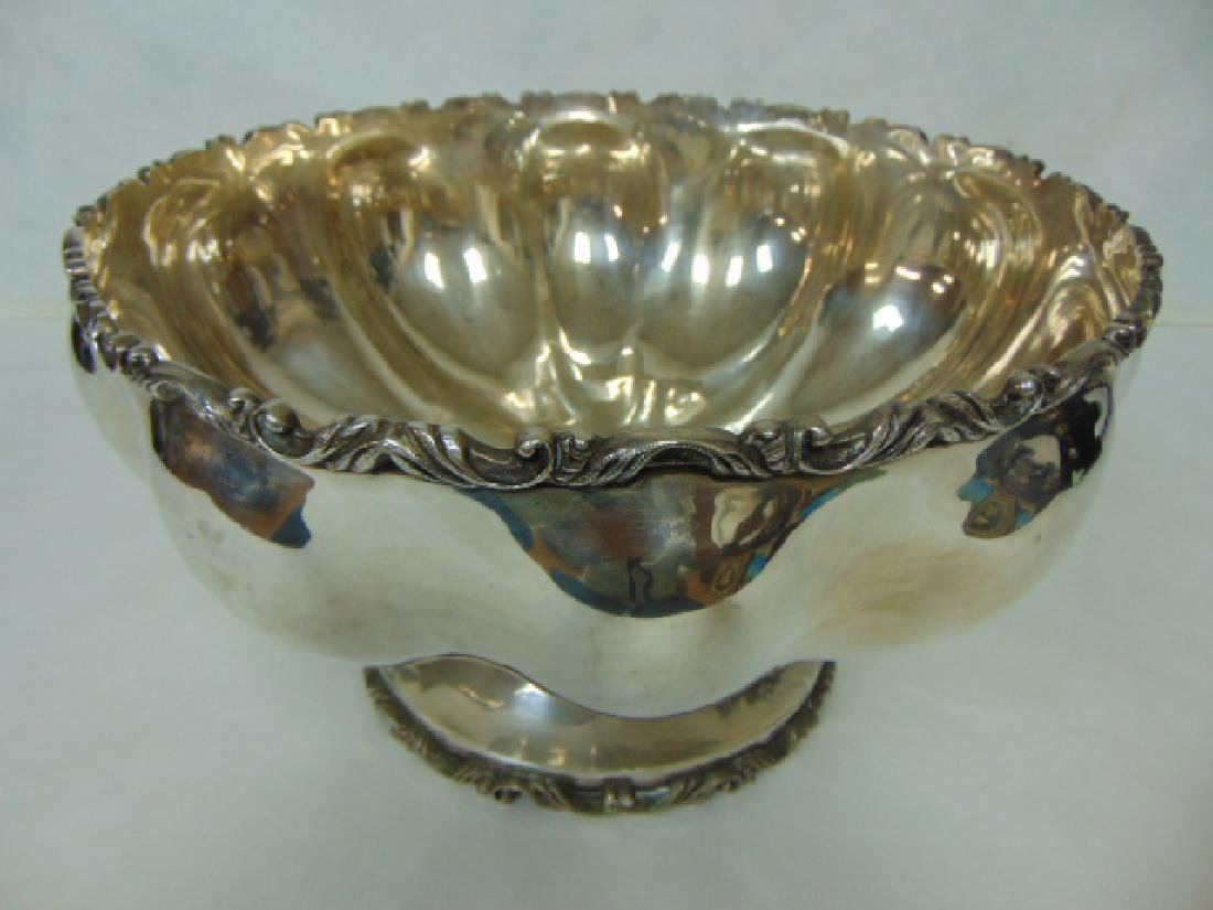 ANTIQUE .950 STERLING SILVER PUNCH BOWL