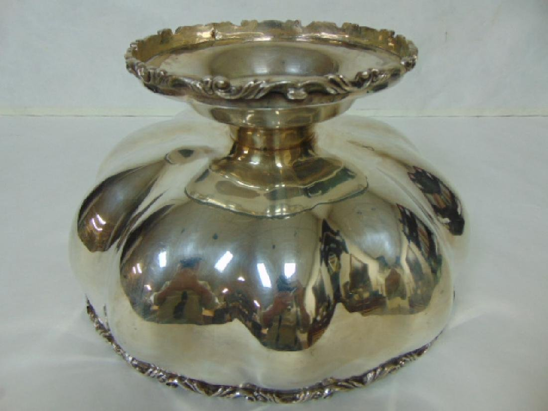 ANTIQUE .950 STERLING SILVER PUNCH BOWL - 3