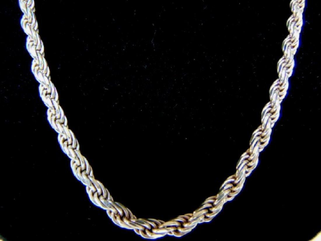 Vintage Estate Heavy Sterling Silver Necklace - 2