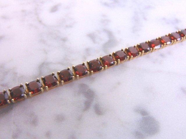 Womens 14k Gold Bracelet w/ Rubies & Diamonds