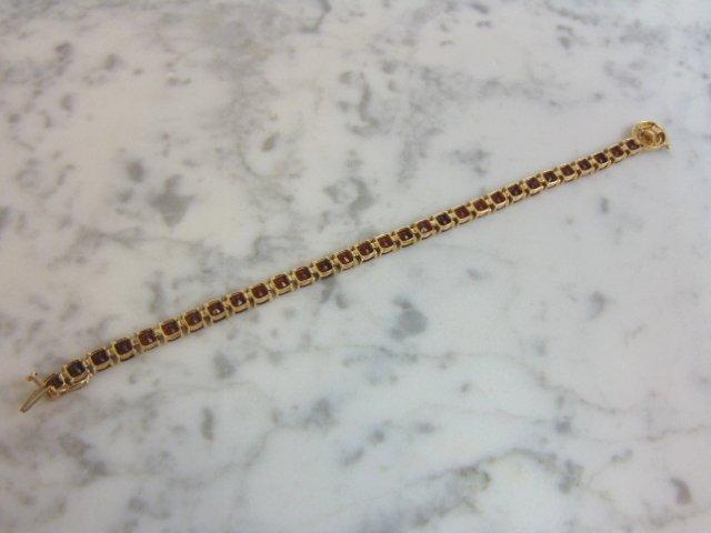 Womens 14k Gold Bracelet w/ Rubies & Diamonds - 4