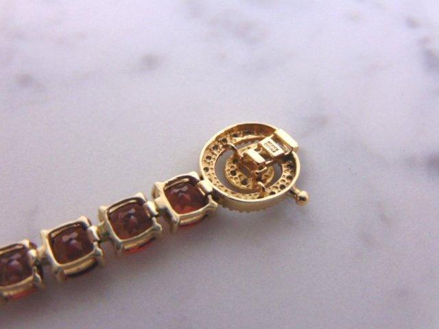 Womens 14k Gold Bracelet w/ Rubies & Diamonds - 6