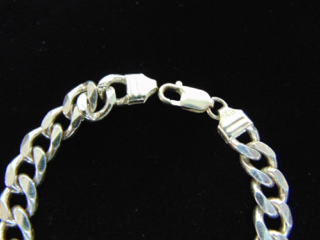 Vintage Estate Sterling Silver Chain Link Bracelet - 3