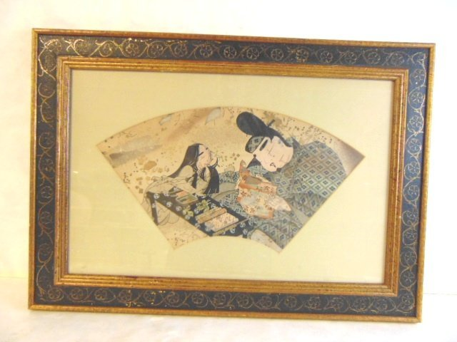 VINTAGE CHINESE JAPANESE WATERCOLOR SCENE PAINTING