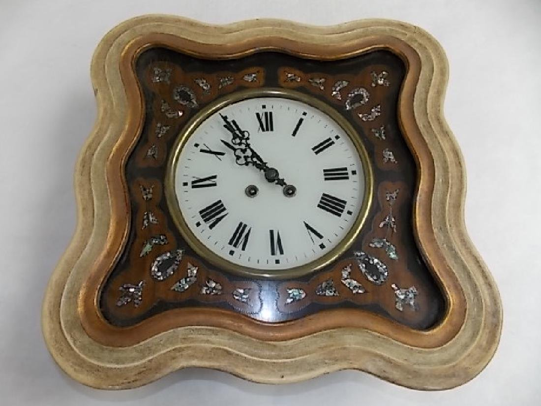 ANTIQUE FRENCH NAPOLEON III PICTURE FRAME WALL CLOCK