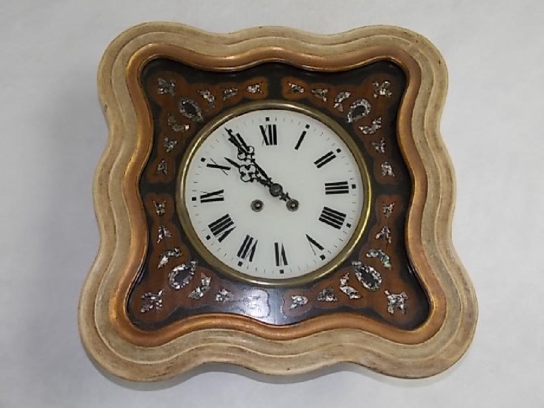 ANTIQUE FRENCH NAPOLEON III PICTURE FRAME WALL CLOCK - 2