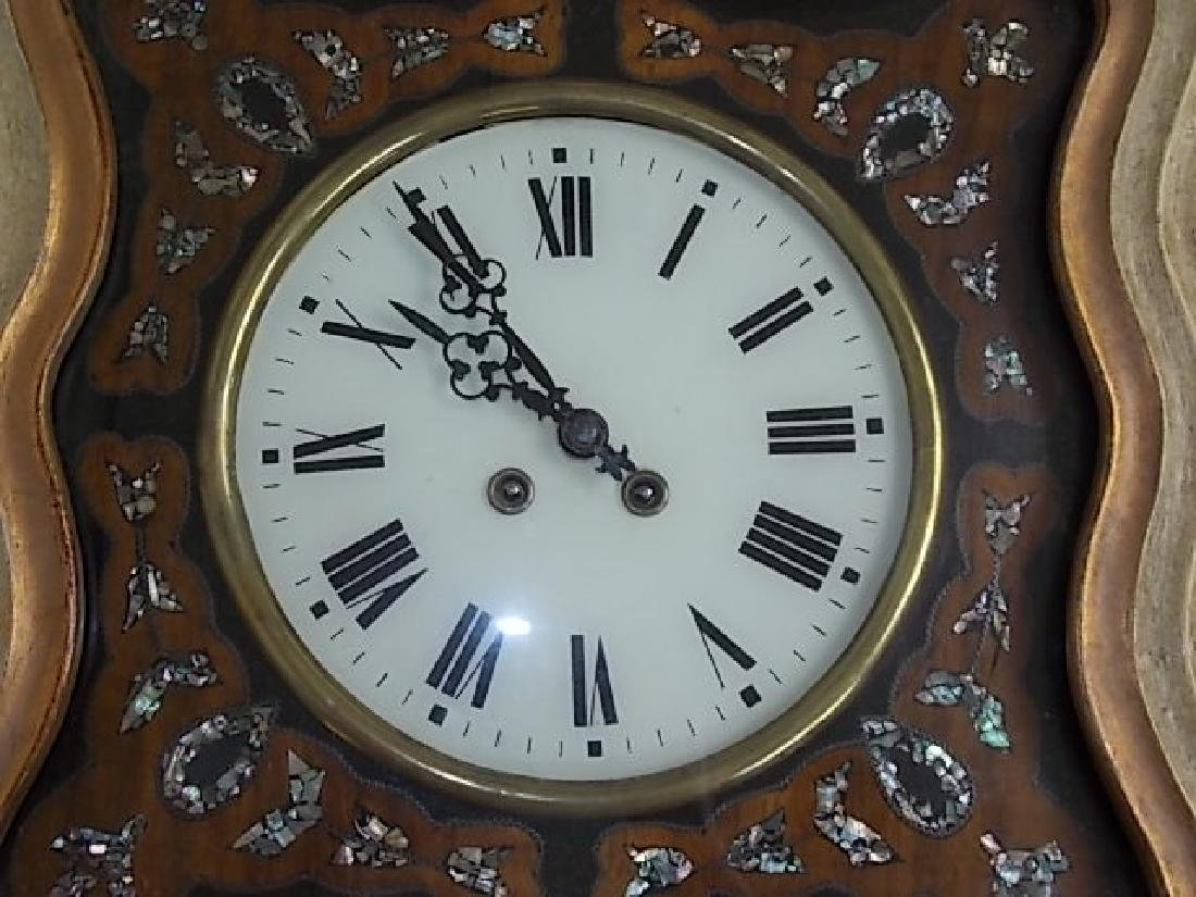 ANTIQUE FRENCH NAPOLEON III PICTURE FRAME WALL CLOCK - 3