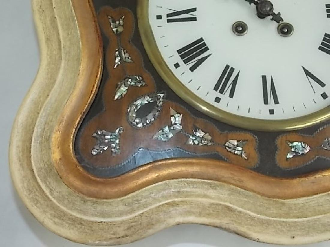 ANTIQUE FRENCH NAPOLEON III PICTURE FRAME WALL CLOCK - 4
