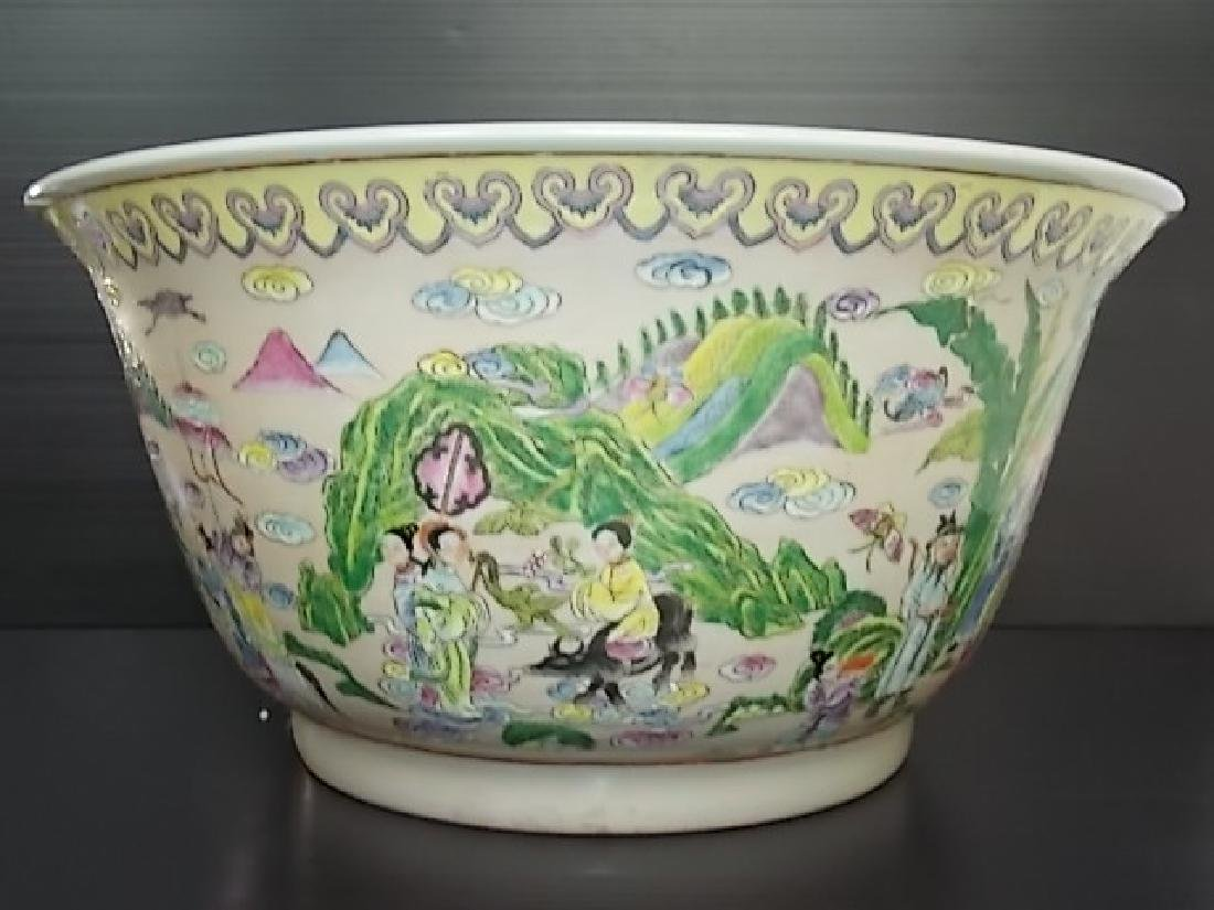 HUGE HAND PAINTED CHINESE PORCELAIN PUNCH BOWL